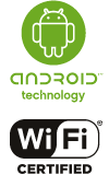 Android-powered for easy internet connectivity