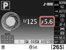 camera information display