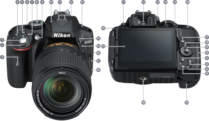 Nikon Imaging Products Parts And Controls Nikon D5300