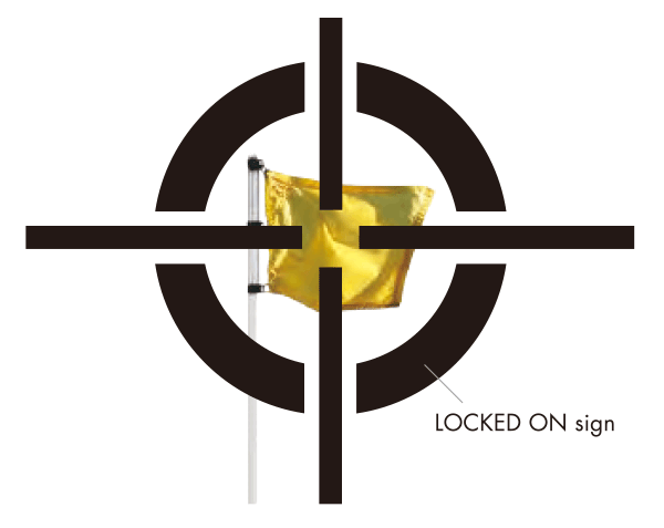 LOCKED ON sign