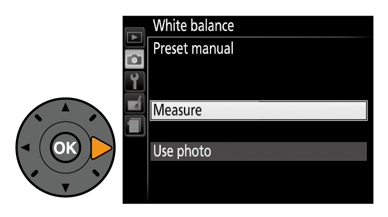 d3300 how to set white balance